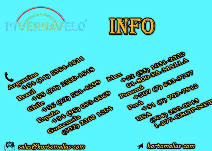 contact information about INVERNAVELO frost blanket